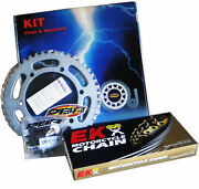 Pbr / Ek Chain And Sprockets Kit 525 Pitch For Ktm Supermoto 950 Lc8 2006 2008