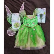 Us Disney Store Tinkerbell Costume Shining Feather