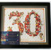 Disney 30th Anniversary Pin Badge Limited Quantity Tweezers Framed