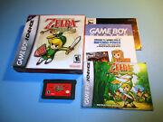 The Legend Of Zelda The Minish Cap Game Boy Advance W/box Manual And Inserts