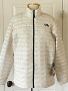 199 Nwt Womens The Eco Slim Fit Thermoball Jacket Vintage White Xl