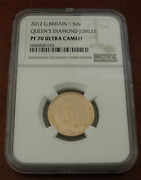 Great Britain 2012 Gold 1 Sovereign Pound Ngc Pf70uc Queenand039s Diamond Jubilee
