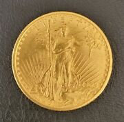 1908 St. Gaudens 20 Gold Coin. No Scratches Beautiful Luster