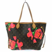 Louis Vuitton Neverful Mm Tote Bag Monogram Rose Synthetic Leather No.6587