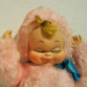 Rushton Vintage Rubber Face Doll Baby W/ Music Box