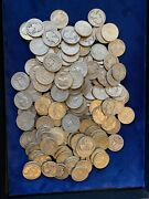 Washington Quarters 90 Silver / Group Lot Of 170 Circulated Coins Face=42.5