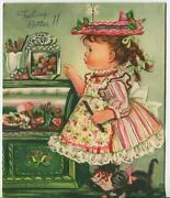 Vintage Candy Confectionery Sugar Shoppe Store Store Cat Ice Cream Greeting Card
