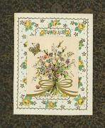 Vintage Yellow Roses Wildflower Butterfly Collage Picture Print On Antique Paper