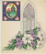 Mermaid Roses Church Window White Lily Violets Picture Aesthetic Collage Print
