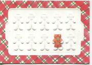 Vintage Christmas Emboss Gingerbread Cookie And Christmas Snow Child Squirrel Card