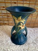 Vintage Roseville Blue Zephyr Lilly Vase-8-beautiful Piece-stamped And Numbered