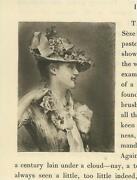 Antique Victorian Woman Floral Straw Hat Pin Rose Corsage On Dress Tiny Print