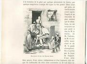 Antique Sorrow Mourning Prayers Peasants Blessings Family Helping Man Art Print