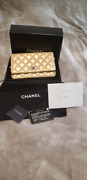Gold 2.55 Wallet On Chain Woc Shoulder Bag Quilted Calfskin Leather