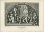 Antique Rome Italy Roman Architecture Great Fire Conflagration History Art Print
