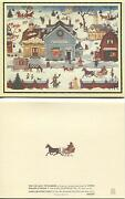 1 Christmas Village Toy Shop Bakery Tailor Roasted Chestnuts Church Horse Card