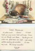 Vintage Baked Beans Brown Bread Carrot Marmalade Recipe 1 Christmas Snowman Card