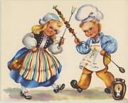 Vintage Shish Kabobs Seafood Oyster Recipe Card And1 Pumpkin Apples Cow Sheep Card