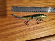 Htf 7 Wood Jointed Ac Plug Lure Rainbow Trout Allan Cole Signed Never Used