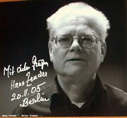 Hans Zender German Composer And Conductor. Superb Signed Photo Dating From 2005