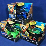3 Spin Rippers Monster Jam Dragon Son-uva Digger Grave Digger Ripcord Activated