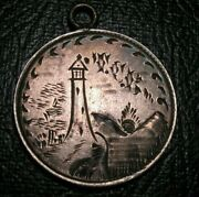 Old Canadian Coins Higrade Love Token Victoria Silver 10 Cent Lighthouse Scene