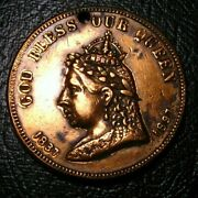 Old Canadian Coins Canada Medal 1897 Queen Victoria Jubilee Leroux