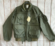 Vintage Mens Ideal Fly Fishing Utility Jacket Green Pockets Xl Usa Made Wow
