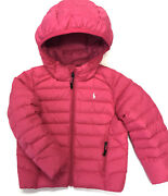 Polo Girls Jacket Kids Puffer Down Fill Coat Size 2 2t Pink