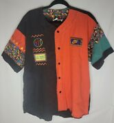 Vintage Nike Urban Jungle Playground Button Shirt Jersey 90s Spike Lee Large
