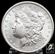 1881s Morgan Silver Dollar Lustrous Beauty With San Francisco Mint
