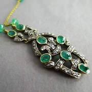 Magnificent Necklace With Emeralds And Diamonds