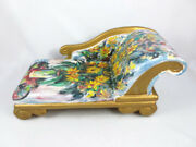 Vintage French Poupee Millet Bean Doll Fainting Couch Hand Painted Signed