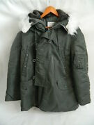 Mens Alpha Industries Extreme Cold Weather Parka Type N-3b Green Size L