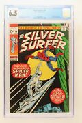Silver Surfer 14 - Marvel 1970 Cgc 6.5 Spider-man Appearance. Letter From Doug