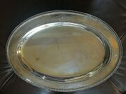 Reed And Barton Sagamore Solid Sterling Silver 18 X 13 1/2 Serving Tray