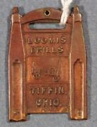 Loomis Drills Tiffin Ohio Oil And Water Drills Whitehead And Hoag Watch Fob Charm X1