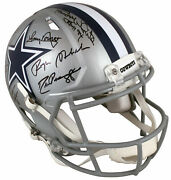 Dallas Cowboys Ring Of Honor Legends Signed Full Size Speed Proline Helmet Wi...