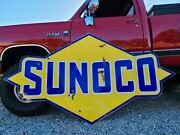 Sunoco Porcelain Sign 🔥the Real Deal 8 Foot