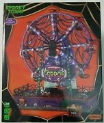 2021 Lemax Spooky Town Web Of Terror Ferris Wheel Sights And Sounds Halloween