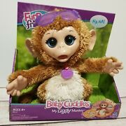 Furreal Friends Baby Cuddles My Giggly Talking And Moving Monkey Interactive New