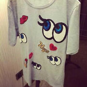 Cartoon Eyes Embroidered Cloth Iron On Patch Sew Motif Applique Badge Sequdc