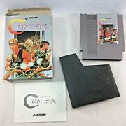Nes Contra Boxed Nintendo Entertainment System Booklet Konami 1987 Fast Shipping