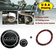Aluminum 103 Derby Timing Timer Engine Cover For Harley Road King Street Glide