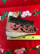 Rare Single Antique Chinese Lotus/ Bound Foot Shoe 3.5 Inches Golden Lotus