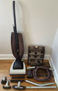 Rare Vintage 1955 Hoover Model 61 Convertible Upright Vacuum Cleaner Accessories