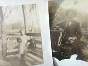 Lot Antique 2 Cabinet Photographsharry And Stella Schmeck W/dog Berks Co Pa