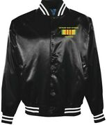 Vietnam Vet Operation Frequent Wind Marinesembroidered 2-sided Satin Jacket