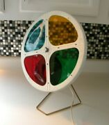 Vintage Rotating Color Wheel For Aluminum Christmas Tree Works