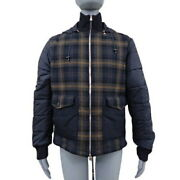 Louis Vuitton Check Down Jacket Outer Coat Fashion Apparel Clothing 50 No.3990